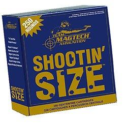 Shootin' Size 9mm 115-Grain Full Metal Jacket Centerfire Handgun Ammunition