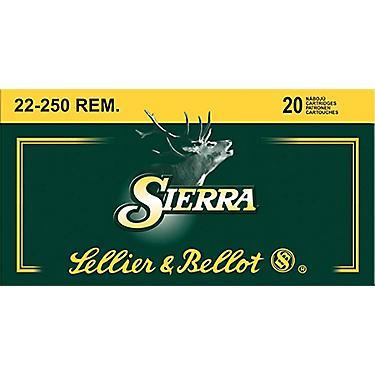 Sellier & Bellot  22-250 Remington 55-Grain Sierra GameKing BTSP Centerfire  Rifle Ammunition