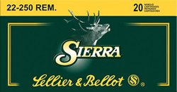 .22-250 Remington 55-Grain Sierra GameKing BTSP Centerfire Rifle Ammunition