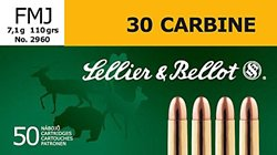 .30 Carbine 110-Grain Full Metal Jacket Centerfire Rifle Ammunition