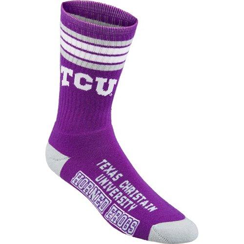 For Bare Feet Adults' Texas Christian University 4-Stripe Deuce Socks