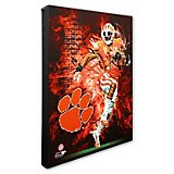 "Photo File Clemson University Player 20"" x 24"" Stretched Canvas Photo"