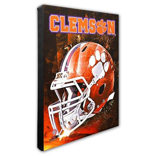 Photo File Clemson University Helmet Stretched Canvas Photo
