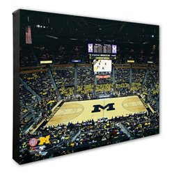 Photo File University of Michigan Arena Stretched Canvas Photo