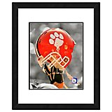 "Photo File Clemson University Helmet 11"" x 14"" Double Matted and Framed Photo"