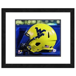 """Photo File West Virginia University Helmet 16"""" x 20"""" Matted and Framed Photo"""