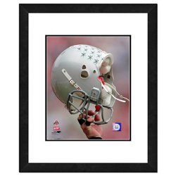 """Photo File Ohio State University Helmet 16"""" x 20"""" Matted and Framed Photo"""