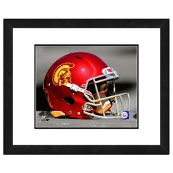 "Photo File University of Southern California Helmet 16"" x 20"" Matted and Framed Photo"