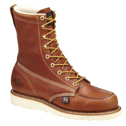 b3d89d3eaaa ... Thorogood Shoes Men's American Heritage 8 in EH Steel Toe Wedge Lace Up Work  Boots. Men's Work Boots. Hover/Click to enlarge