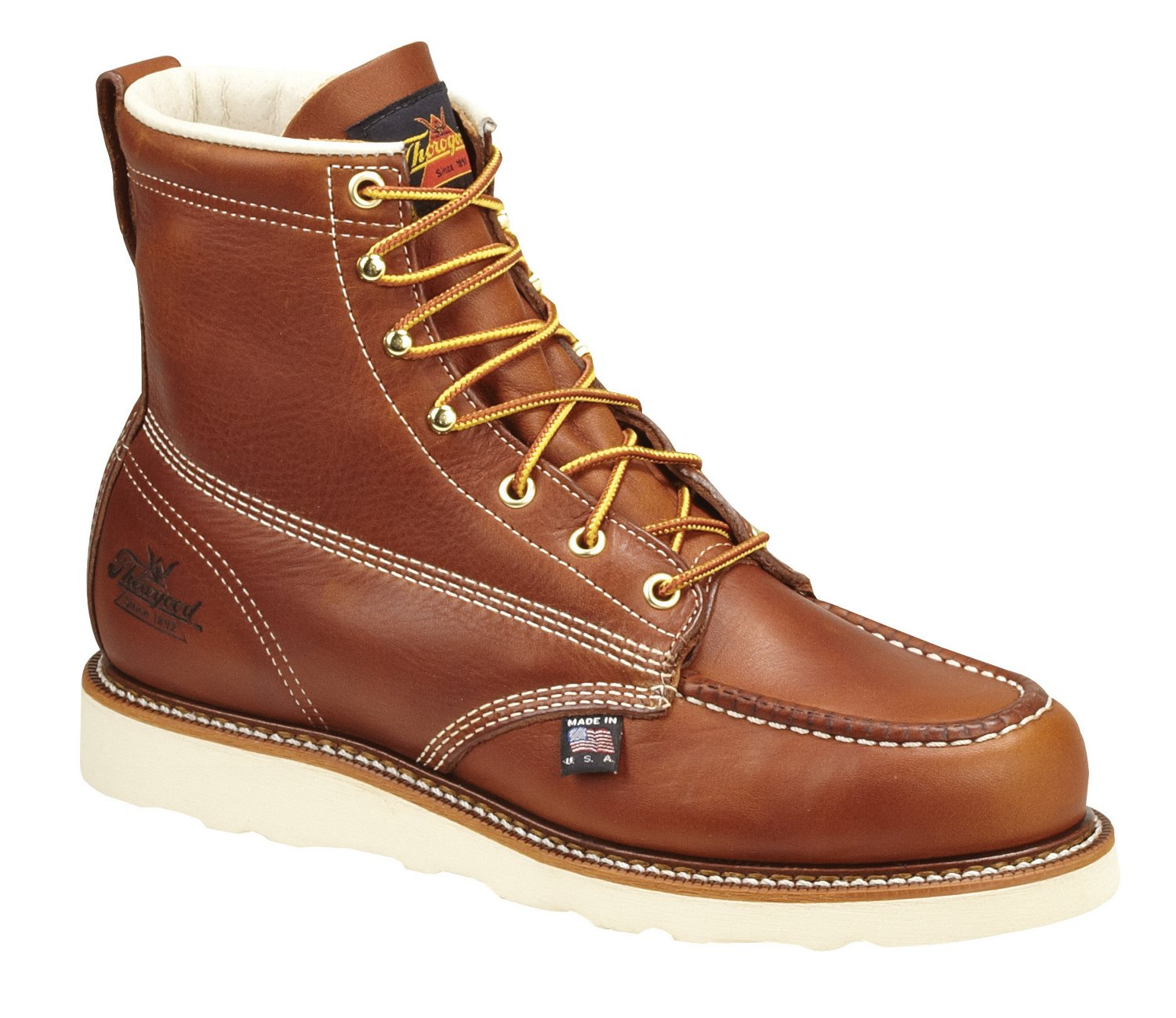 f0062dbbc06 Thorogood Shoes Men's American Heritage 6 in Moc Toe Wedge Lace Up Work  Boots