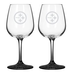 Boelter Brands Pittsburgh Steelers 12 oz. Wine Glasses 2-Pack