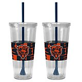 Boelter Brands Chicago Bears Bold Neo Sleeve 22 oz. Straw Tumblers 2-Pack