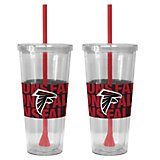 Boelter Brands Atlanta Falcons Bold Neo Sleeve 22 oz. Straw Tumblers 2-Pack
