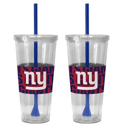 Boelter Brands New York Giants Bold Neo Sleeve 22 oz. Straw Tumblers 2-Pack