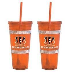 Boelter Brands Cincinnati Bengals 22 oz. Bling Straw Tumblers 2-Pack