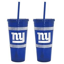 Boelter Brands New York Giants 22 oz. Bling Straw Tumblers 2-Pack