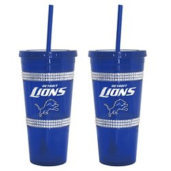 Boelter Brands Detroit Lions 22 oz. Bling Straw Tumblers 2-Pack