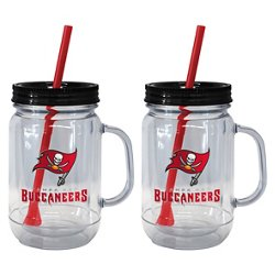 Boelter Brands Tampa Bay Buccaneers 20 oz. Handled Straw Tumblers 2-Pack
