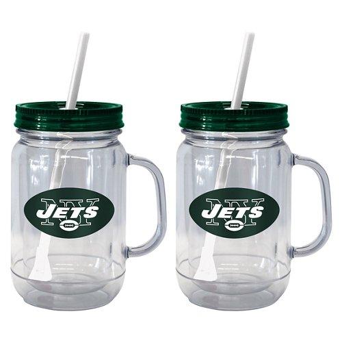 Boelter Brands New York Jets 20 oz. Handled Straw Tumblers 2-Pack