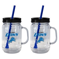 Boelter Brands Detroit Lions 20 oz. Handled Straw Tumblers 2-Pack