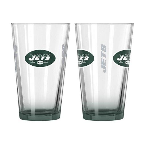 Boelter Brands New York Jets Elite 16 oz. Pint Glasses 2-Pack