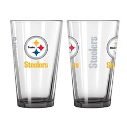 Boelter Brands Pittsburgh Steelers Elite 16 oz. Pint Glasses 2-Pack