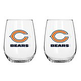 Boelter Brands Chicago Bears 16 oz. Curved Beverage Glasses 2-Pack