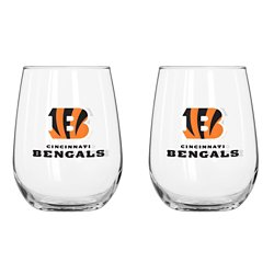 Boelter Brands Cincinnati Bengals 16 oz. Curved Beverage Glasses 2-Pack