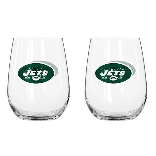 Boelter Brands New York Jets 16 oz. Curved Beverage Glasses 2-Pack
