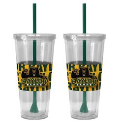 Boelter Brands Baylor University Bold Neo Sleeve 22 oz. Straw Tumblers 2-Pack