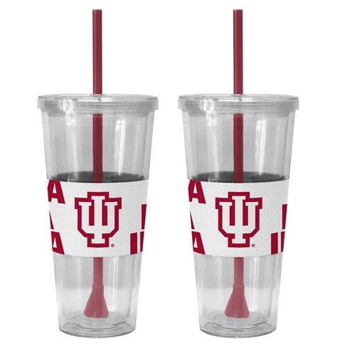 Boelter Brands Indiana University Bold Neo Sleeve 22 oz. Straw Tumblers 2-Pack