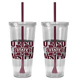 Boelter Brands Mississippi State University Bold Neo Sleeve 22 oz. Straw Tumblers 2-Pack