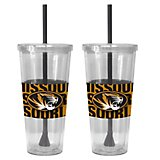 Boelter Brands University of Missouri Bold Neo Sleeve 22 oz. Straw Tumblers 2-Pack