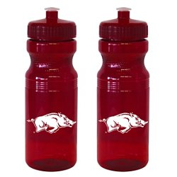 Boelter Brands University of Arkansas 24 oz. Squeeze Water Bottles 2-Pack