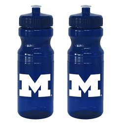 Boelter Brands University of Michigan 24 oz. Squeeze Water Bottles 2-Pack