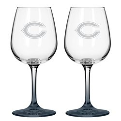Chicago Bears 12 oz. Wine Glasses 2-Pack