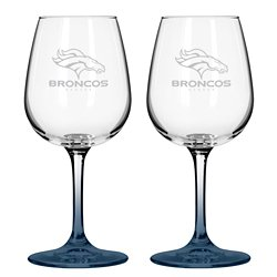 Denver Broncos 12 oz. Wine Glasses 2-Pack