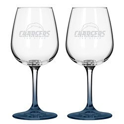 Boelter Brands San Diego Chargers 12 oz. Wine Glasses 2-Pack
