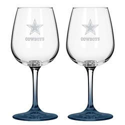 Dallas Cowboys 12 oz. Wine Glasses 2-Pack