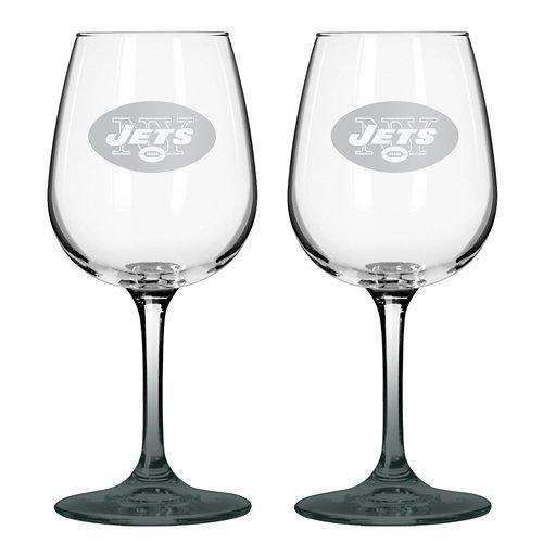 Boelter Brands New York Jets 12 oz. Wine Glasses 2-Pack