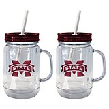 Boelter Brands Mississippi State University 20 oz. Handled Straw Tumblers 2-Pack