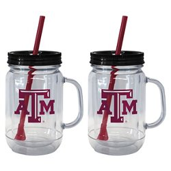 Boelter Brands Texas A&M University 20 oz. Handled Straw Tumblers 2-Pack