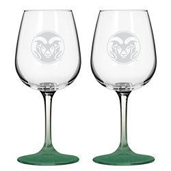 Colorado State University 12 oz. Wine Glasses 2-Pack