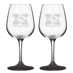 Boelter Brands University of Missouri 12 oz. Wine Glasses 2-Pack