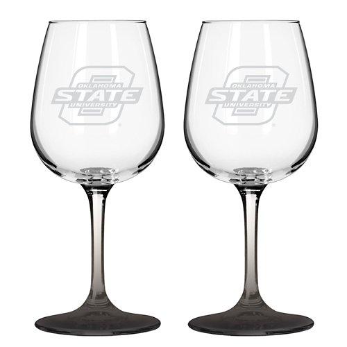 Boelter Brands Oklahoma State University 12 oz. Wine Glasses 2-Pack