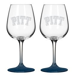 Pittsburgh State University 12 oz. Wine Glasses 2-Pack