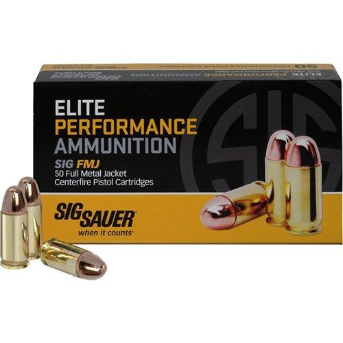SIG SAUER Elite Ball 9mm 115-Grain Centerfire Pistol Ammunition