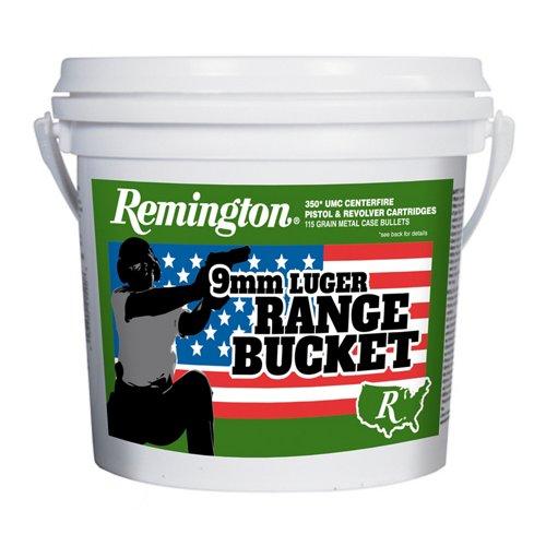 Remington UMC 9mm Brass 115-Grain Pistol Target Ammunition Bucket