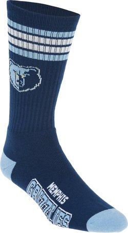 For Bare Feet Adults' Memphis Grizzlies 4-Stripe Deuce Socks