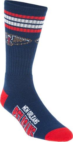 For Bare Feet Adults' New Orleans Pelicans 4-Stripe Deuce Socks